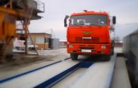 Готовые электронные автомобильные весы. Установлены в Краснодарском крае. На весах грузовой автомобиль, происходит контрольное взвешивание. фото #40